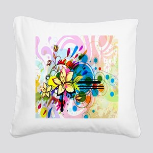 Flower Abstract Square Canvas Pillow