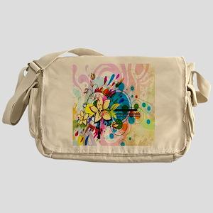Flower Abstract Messenger Bag