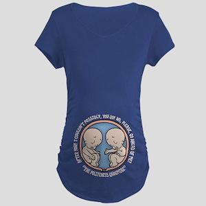Politeness Quagmire Maternity Dark T-Shirt