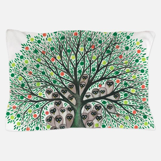 Inyo Owls in Tree Pillow Case