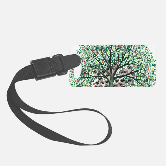 Inyo Owls in Tree Small Luggage Tag