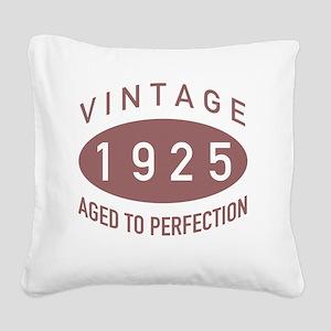1925 Vintage Square Canvas Pillow