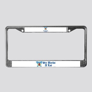 Sir Barks A lot License Plate Frame