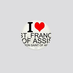 I Love St. Francis of Assisi Mini Button