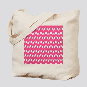 Big Bold Hot Pink White Double Cheveron Pattern To