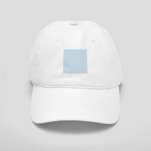 Baby Blue Floral Pattern Baseball Cap