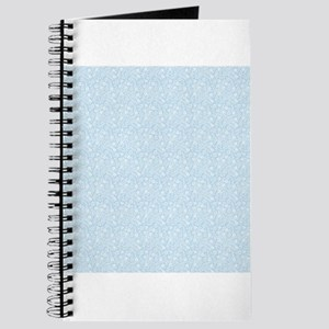 Baby Blue Floral Pattern Journal