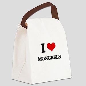 I Love Mongrels Canvas Lunch Bag