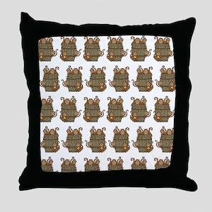 Barrel of Monkeys Throw Pillow