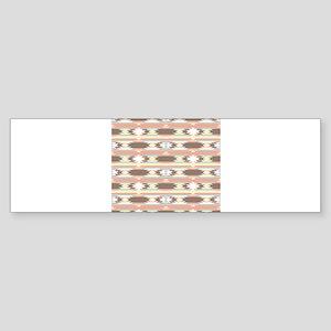 Tribal Horizontal Stripes Pattern Bumper Sticker