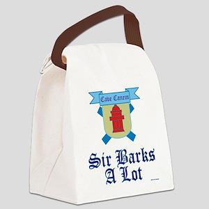 Sir Barks A lot Canvas Lunch Bag