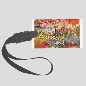 Vintage Hawaii Travel Colorful Hawaiian Tropical L