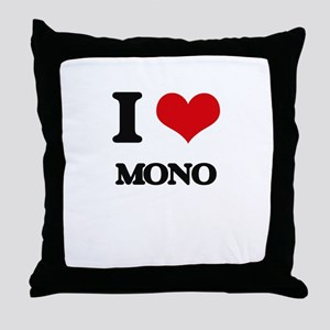 I Love Mono Throw Pillow