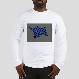 blue and black flag Long Sleeve T-Shirt