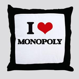 I Love Monopoly Throw Pillow