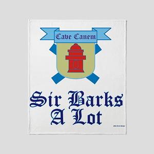 Sir Barks A lot Throw Blanket