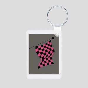 pink and black flag portrait Aluminum Photo Keycha