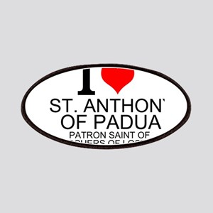 I Love St. Anthony of Padua Patches
