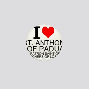 I Love St. Anthony of Padua Mini Button