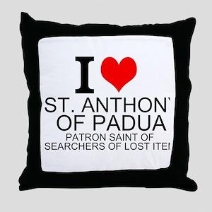 I Love St. Anthony of Padua Throw Pillow