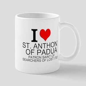 I Love St. Anthony of Padua Mugs