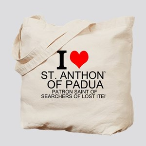 I Love St. Anthony of Padua Tote Bag