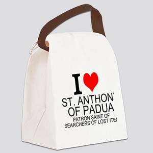 I Love St. Anthony of Padua Canvas Lunch Bag