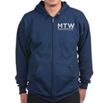 Mtw White Logo Zip Hoodie (dark)
