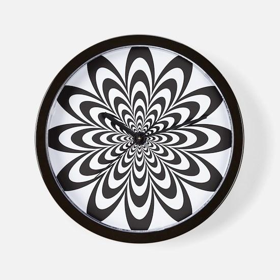 Infinite Flower Wall Clock