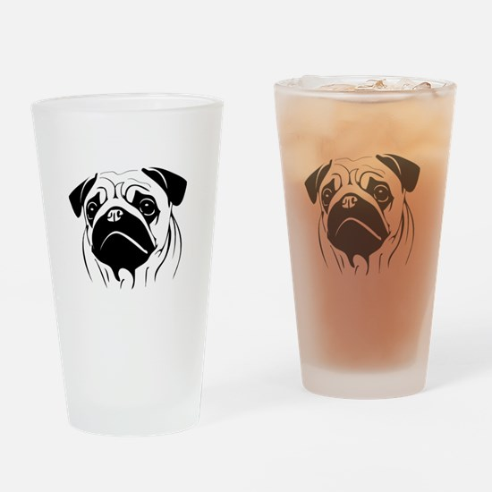 Funny Pug or pugs Drinking Glass