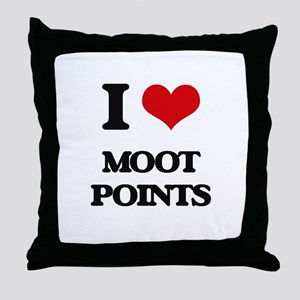 I Love Moot Points Throw Pillow