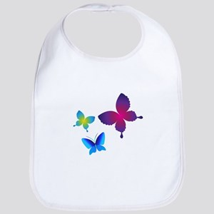 Colorful Buttlerflies Bib