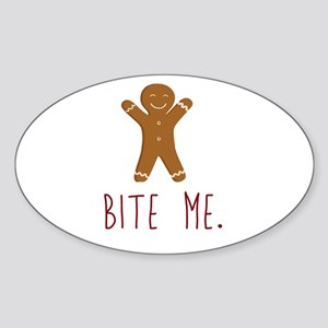 Grouchy Gingerbread Sticker