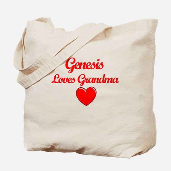 Genesis Loves Grandma Tote Bag