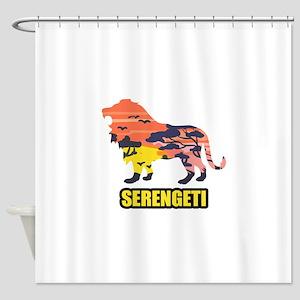 LION SERENGETI Shower Curtain