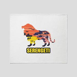 LION SERENGETI Throw Blanket