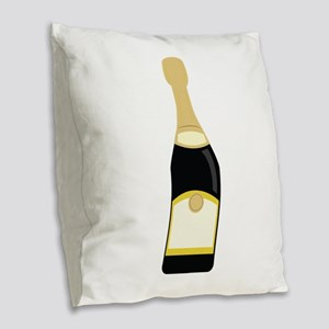 champagne_base Burlap Throw Pillow
