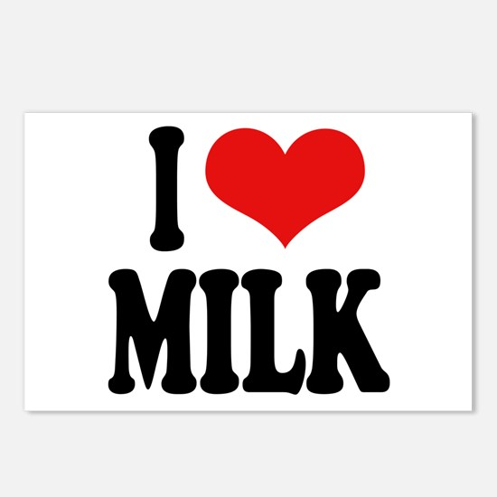 I Love Milk Postcards (Package of 8)