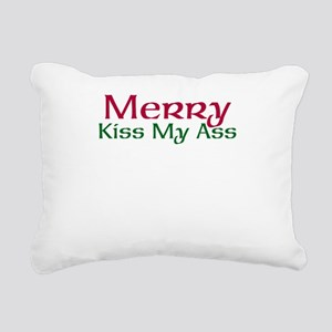 Merry Kiss My Ass Rectangular Canvas Pillow
