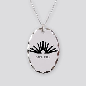 Synchronized Swimming Necklace Oval Charm