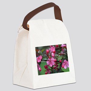 Crab Apple Blossoms Canvas Lunch Bag