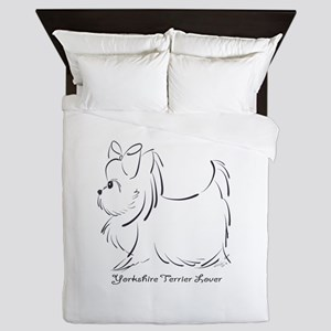 ByCatiaCho Yorkie Lover Queen Duvet