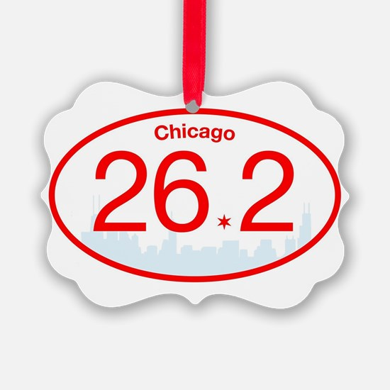 Chicago Marathon Red/Blue Ornament