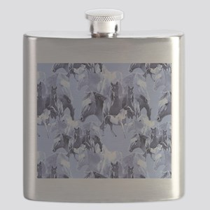 Horses In Blue Flask