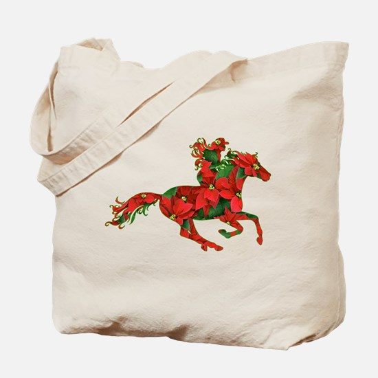 Christmas Horse Rider Tote Bag