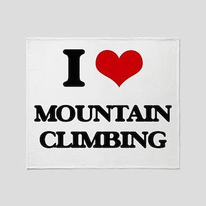 I love Mountain Climbing Throw Blanket
