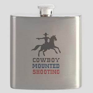 COWBOY MOUNTED SHOOTING Flask