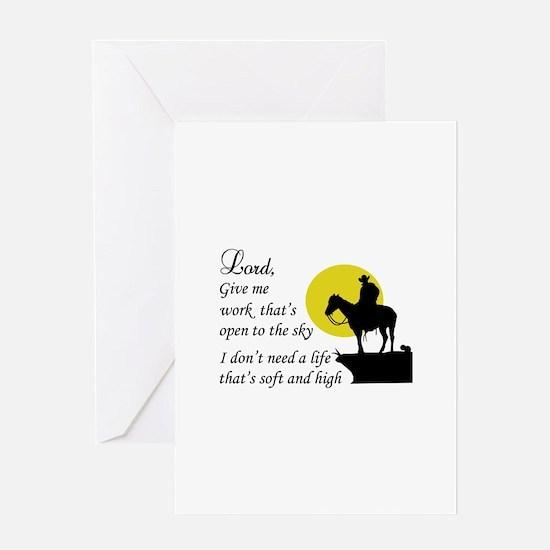 COWBOY PRAYER Greeting Cards