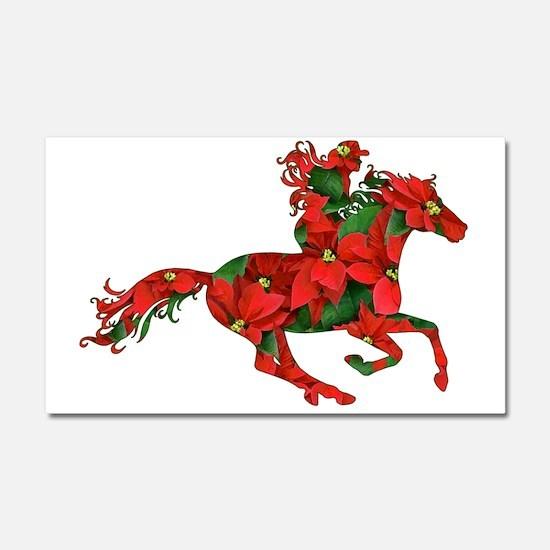 Christmas Horse Rider Car Magnet 20 x 12