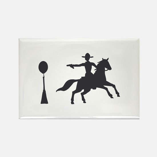 COWBOY MOUNTED SHOOTING Magnets